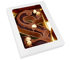 Chocolade letter S doublet 195 gram