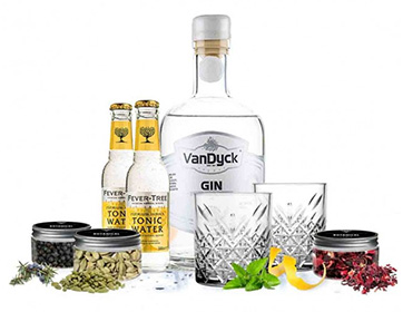 Gin and tonic pakket met vandyck gin